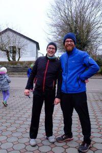 O-Ton Martin Erler (links), 2. Vorsitzender SpVgg Hainsacker: Coole Sache, wo kann ich mich für den nächsten Lauf anmelden?